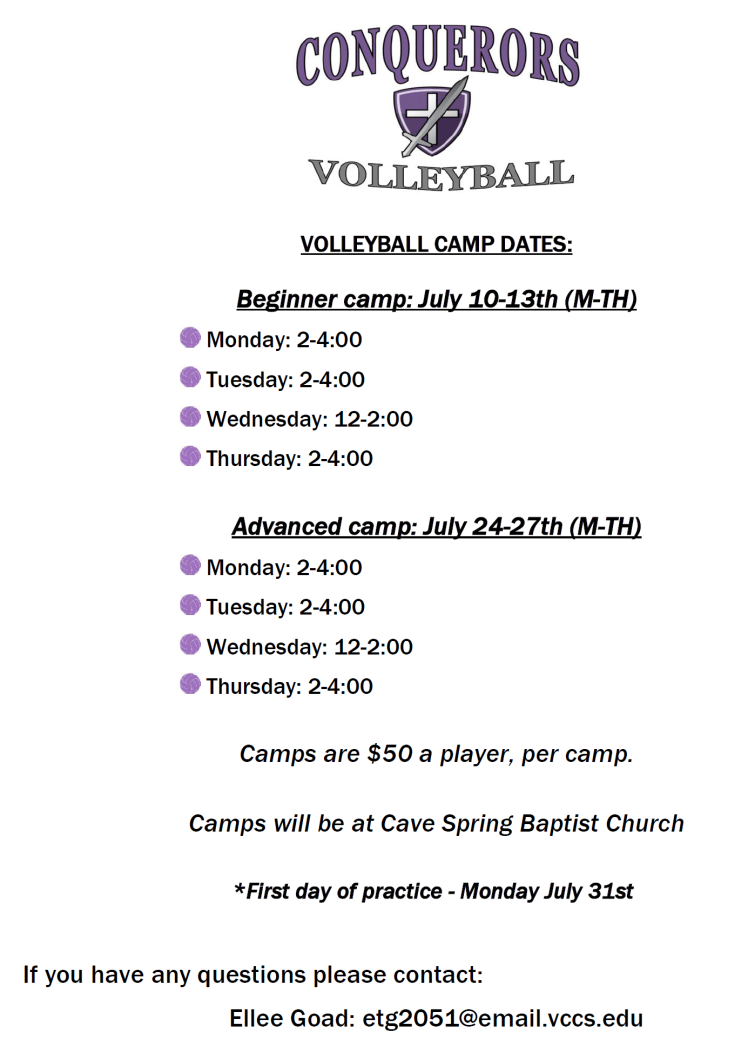 Conq Volleyball Camps